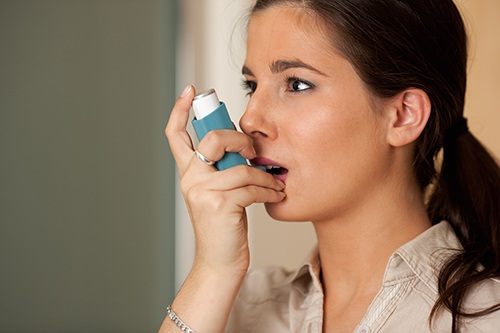 Patient with asthma